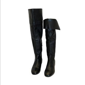 Town Shoes 100% leather black Knee high boots made in Italy size 37